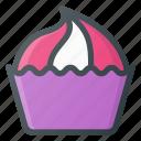 cupcake, eat, food, muffin