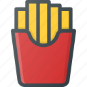 eat, fast, food, french, fries icon
