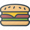 eat, fast, food, hamburger icon