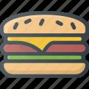 eat, fast, food, hamburger
