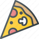 eat, fast, food, italian, pizza icon