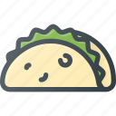 eat, food, taco icon