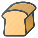 bread, eat, food, toast