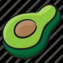 alligator pear, avocado, avocado pear, butter pear, fruit, pear