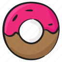 confectionery, dessert, donut, doughnut, food