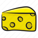 cheese, cheese piece, cheese slice, dairy product, food item