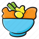 fresh vegetables, healthy diet, organic food, vegetable bowl, vegetables