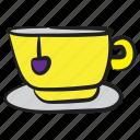 coffee cup, hot coffee, hot tea, tea, teacup