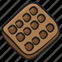 bakery food, biscuit, cookie, snack, wafflebeat