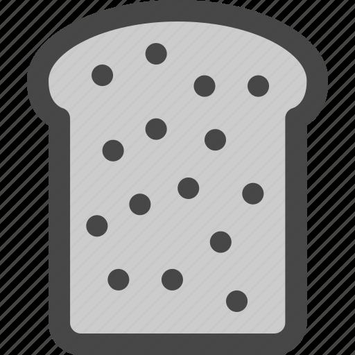 bakery, bread, breakfast, food, sandwich, slice, toast icon