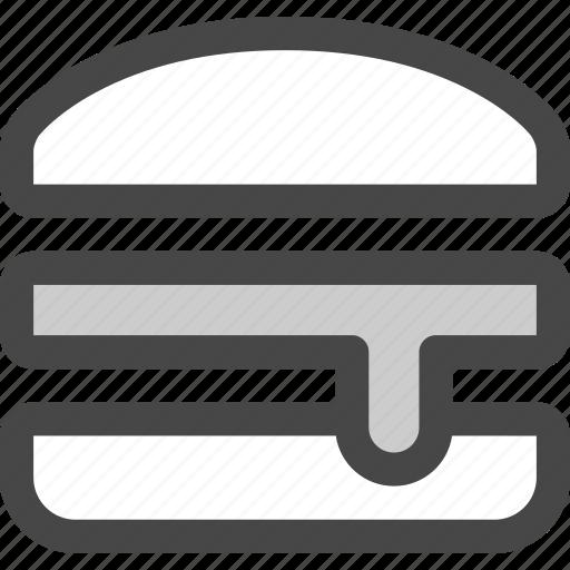 bun, burger, fast, food, hamburger, junk, sandwich icon