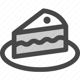 birthday, cake, cherry, dessert, food, party, slice icon