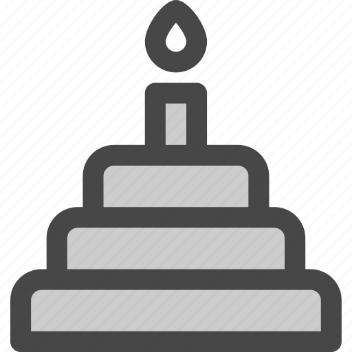 birthday, cake, candle, dessert, food, party icon