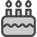 birthday, cake, candles, dessert, food, party icon