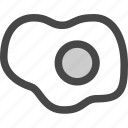 breakfast, cook, egg, food, fried, meal icon