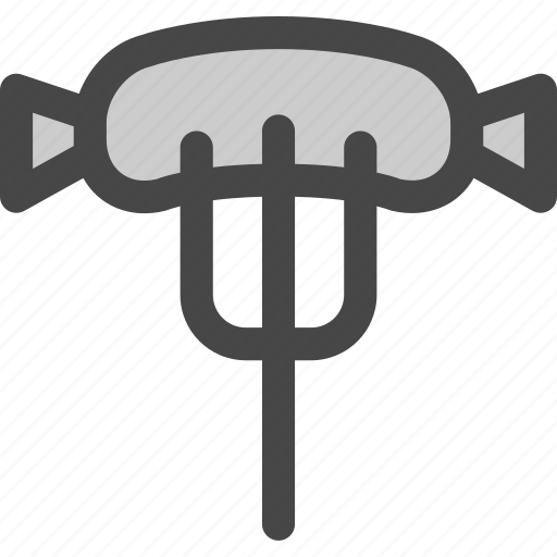bbq, food, fork, grilled, meal, sausage icon