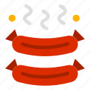 food, grilled, sausages icon