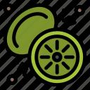fruit, kiwi, tropical icon