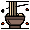 chopsticks, cup, chinese, noodle icon