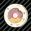 donut, dessert, sweet, bakery, food, cooking, kitchen