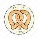 pretzel, baking, dough, bakery, dessert, food, cooking