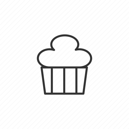 cake, cooking, cupcake, food, line icon