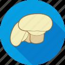 mushroom, eating, food, ingredient, restaurant, salad icon