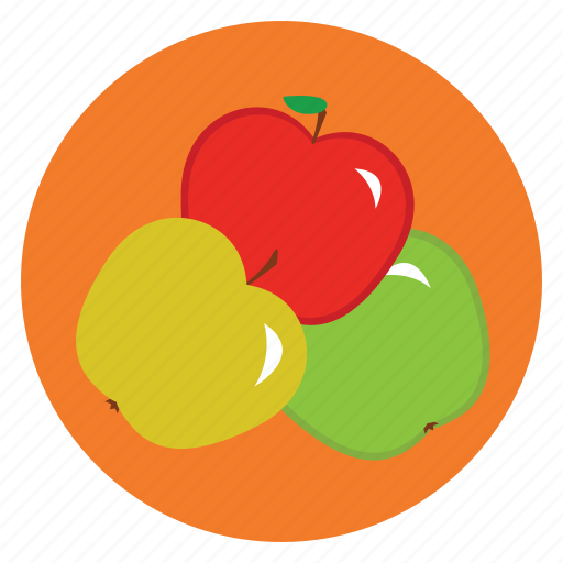 apple, food, fruit, healthy, lunch, snack icon