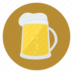 beer, beverage, drink, foam, food, jug icon