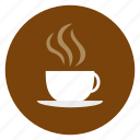 coffee, cup, food, mug, saucer, stean icon