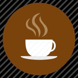 coffee, cup, food, mug, saucer, stean icon