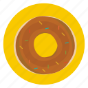 donut, food, pastry, snack, sprinkles icon