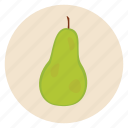 food, fruit, healthy, lunch, pear, snack icon