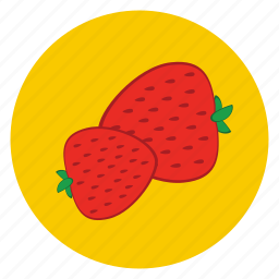 food, fruit, healthy, lunch, snack, strawberry icon
