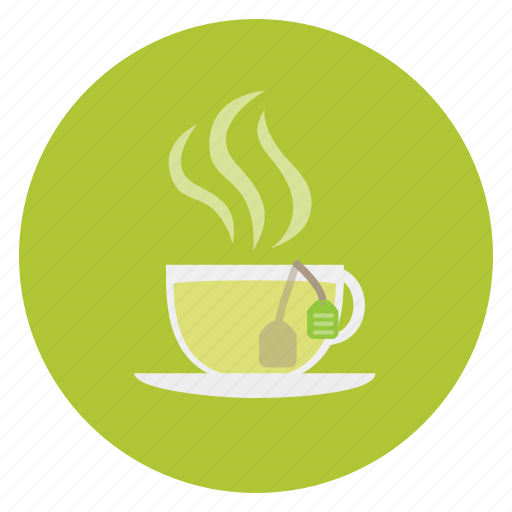 beverage, cup, food, label, mug, steam, tea icon
