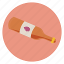 beverage, bottle, food, grapes, label, wine icon