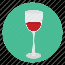 beverage, food, glass, half-full, wine icon
