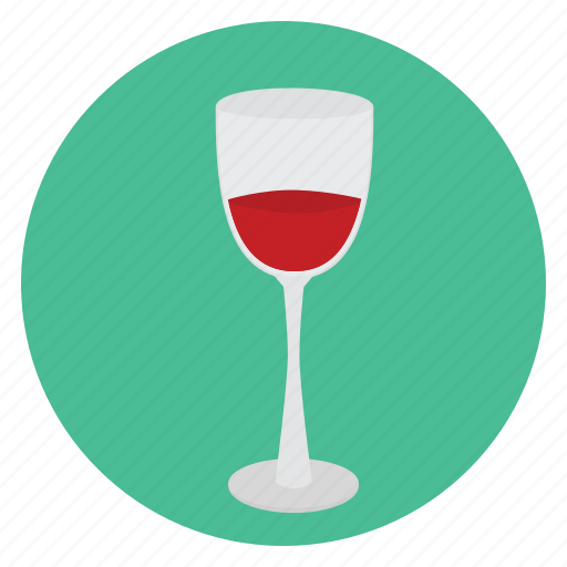 beverage, food, glass, half-full, wine icon