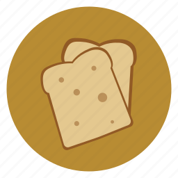 bread, food, pastry, slice, slices icon