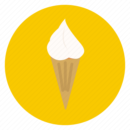 cone, cream, food, ice, snack, sweet icon