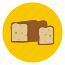 bake, bread, food, loaf, slice icon