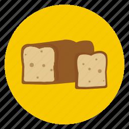 bake, bread, food, loaf, slice icon
