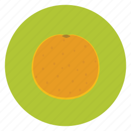 food, fruit, healthy, lunch, orange, snack icon