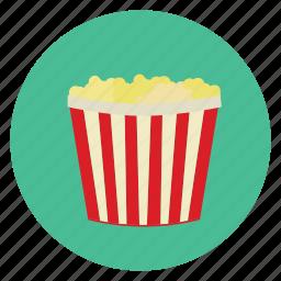 corn, food, movies, pop, snack, theatre icon