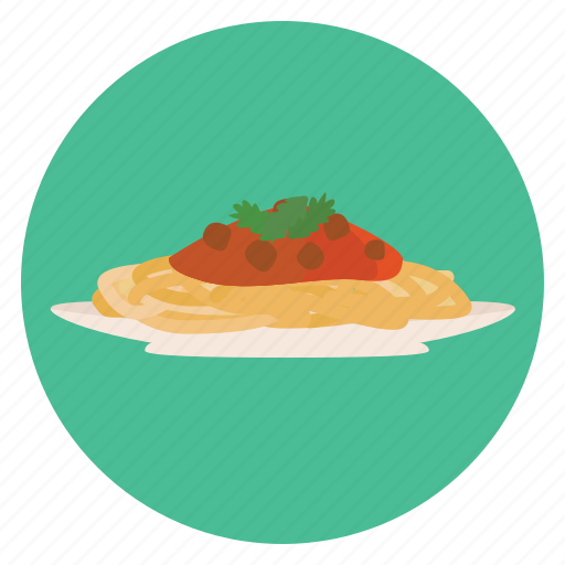 dinner, food, meal, red, sauce, spaghetti icon