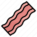 bacon, barbecue, food, grilled, meat, proteins, restaurant icon