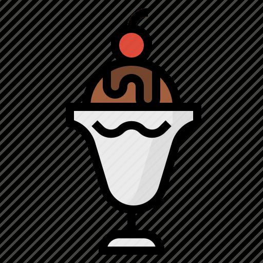 cream, desserts, ice, sundae icon