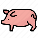 animals, farm, pig, pork, wildlife icon