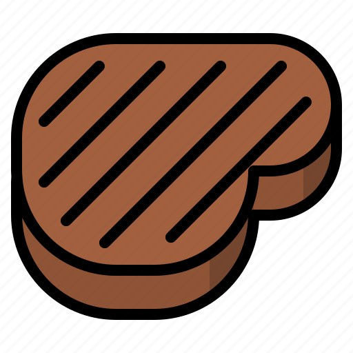 beef, food, meat, steak icon