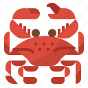 crab, food, restaurants, seafood icon